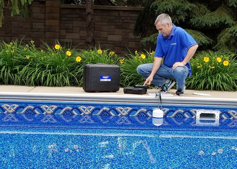 Leakalyzer used to determine water loss in just minutes.