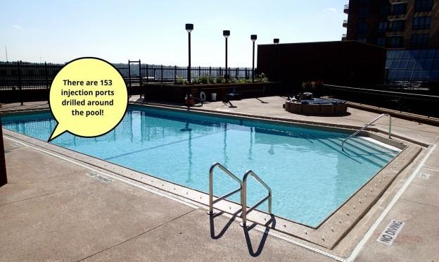 15 Year Unused Rooftop Pool Revitalized Leak Tools Blog